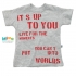 "Camiseta ""Its Up For You"" - Infantil Menino"