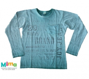 T-shirt Listrada Silk Interno