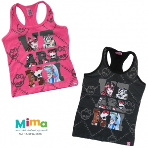Regata Monster High - Preto e Rosa